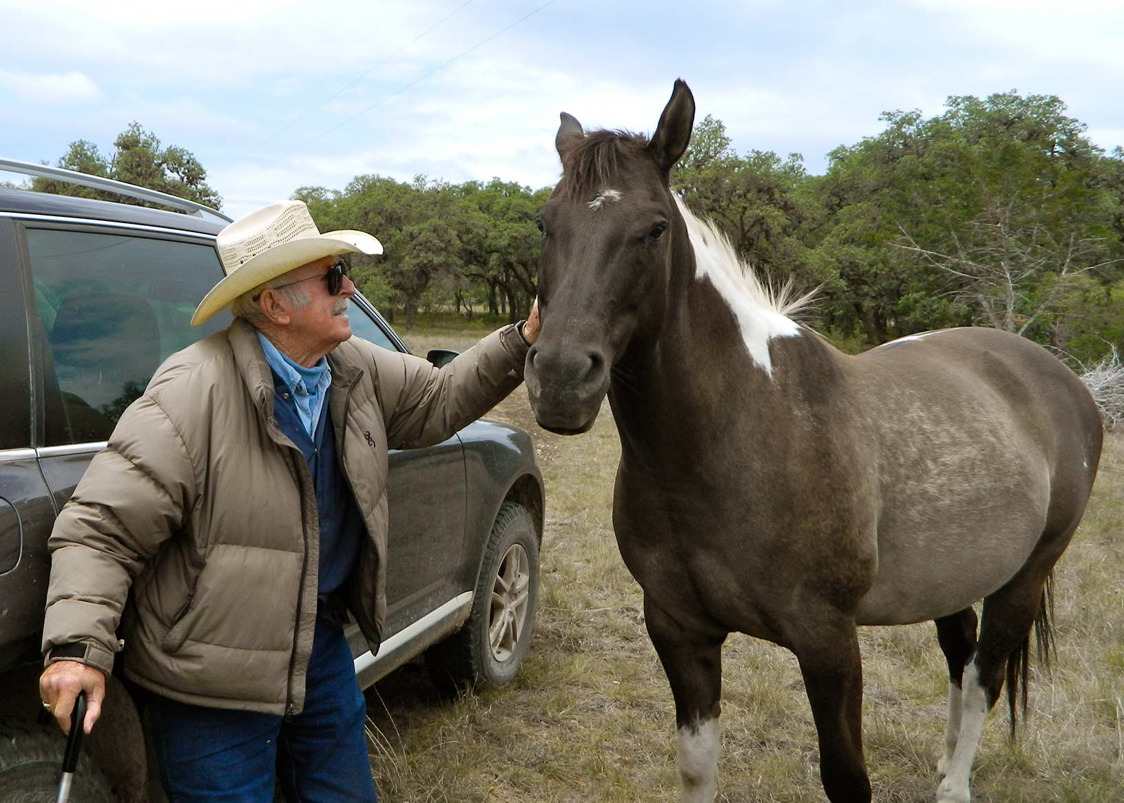 Colonel Russell has trained our horses at his facility in San Antonio for show jumping