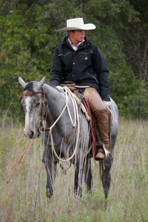 Trevor Carter started horses at our ranch and is now competing on Extreme Mustang Makeover
